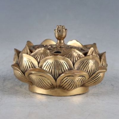Chinese Brass Lotus Incense Burner Made During The Qianlong Period
