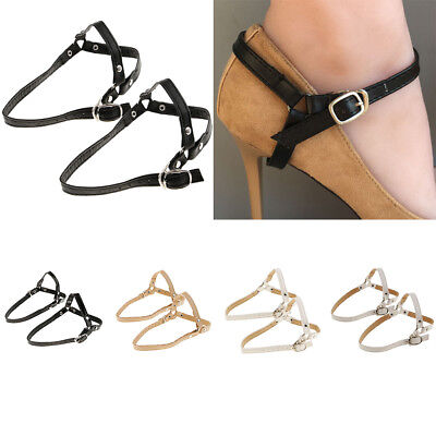 1 Pair Removable Leather Shoe Straps Band for Holding Loose High Heeled Shoe