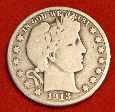 1913-D 50C Barber Half Dollar G Beautiful Coin Check Out Store Bh326