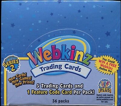 WEBKINZ TCG Series 2 Trading Card Game 6 Card Booster Pack New & Sealed