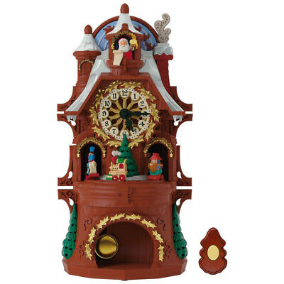 Santa's Musical Christmas Clock With Motion and Light - BRAND NEW