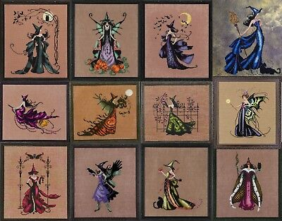 lot of 12 Bewitching Pixie - Cross Stitch Chart - Digital Format