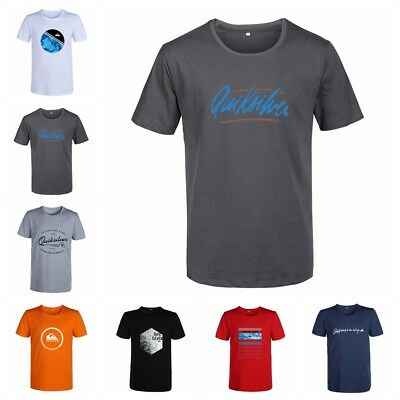 NEW QUIKSILVER Mens Classic T Shirt Casual Basic Tee Shirts Tops Short Sleeved