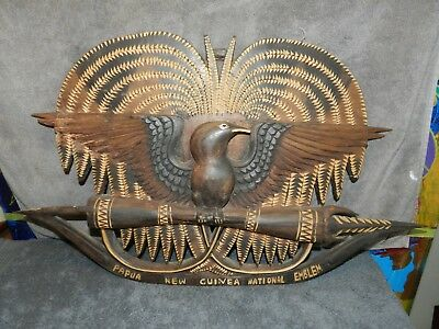 vintage papua new guinea wood carving