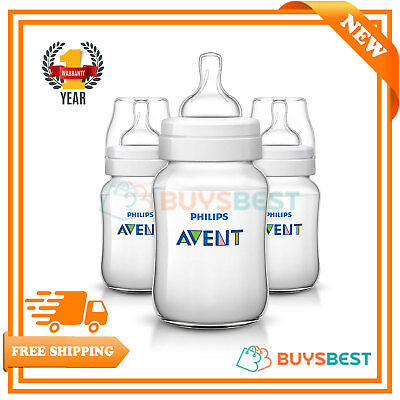 Philips Avent Classic+ Anti-Colic Feeding Bottle (260ml/9oz) Pack Of-3 SCF563/37