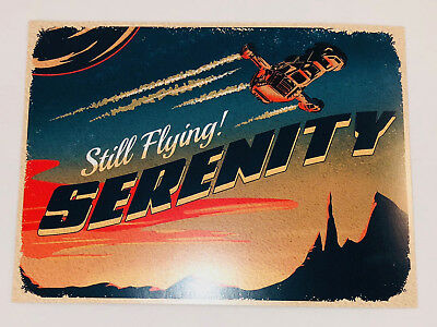 STILL FLYING WAVECARD Postcard Firefly Loot Cargo Crate March 2018 EXCLUSIVE
