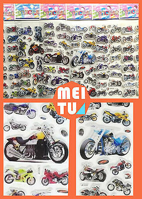 2018 New Children Stereoscopic Motorcycle Stickers-Lot Of 6 Pcs Kids Xmas Gifts
