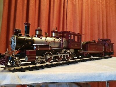 G scale model trains A T & S F locomotive
