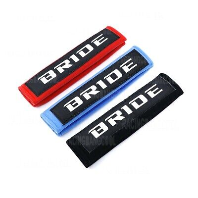 Racing JDM Style Seat Belt Cover Shoulder Pads Pairs with Embroidery Racing Logo
