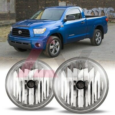 For Toyota Tundra 07-13 Clear Lens Pair OE Fog Light Lamp+Wiring+Switch Kit DOT