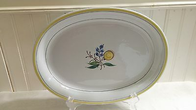 Vintage Arabia of Finland Handpainted Pottery Windflower Large Oval Platter