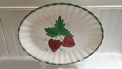 Blue Ridge Southern Pottery Handpainted Large Wild Strawberry Oval Platter