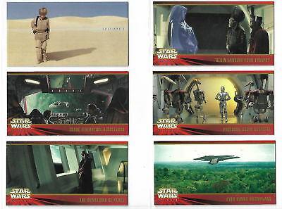 Star Wars Ep1 TPM Near Complete Movie Master Set With Promos In Binder TOPPS 99
