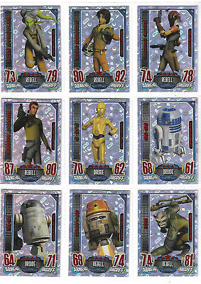 Star Wars Rebels Attax 15 Limited Edition Card  Set - TOPPS 2016 GERMANY