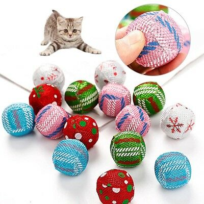 1/2/6 Balls For Pet Dog Cat Kitten Play Activity Fun Chew Toys Gifts UK