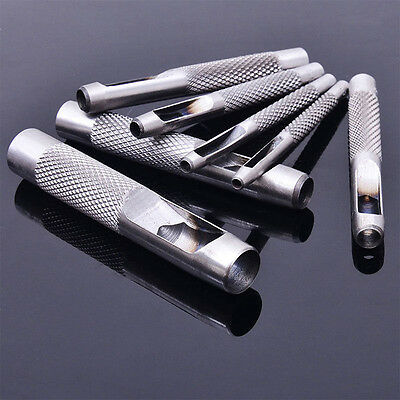 1x / 5x Hollow Punch Set Utensili a mano Guarnizione in pelle CarbonSteel