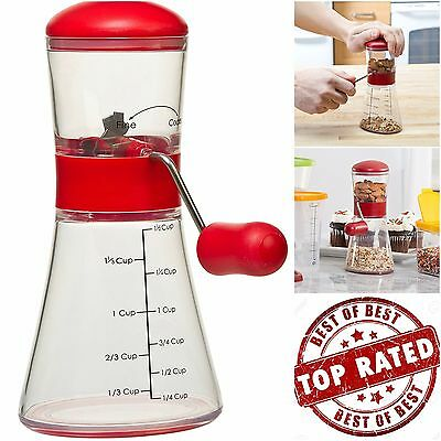 Nut Chopper Non-Skid Base Kitchen Home Tools Pro Hand Cranking Dishwasher Safe