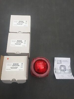 Gent Fire Alarm Addressable White  Sounder With Red Lens