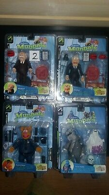 4 x Muppets Palisades The Muppet Show Statler,Waldorf,Fozzie,Uncle Deadly