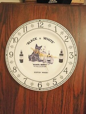 Black & White Scotch Whisky Advertising Clock