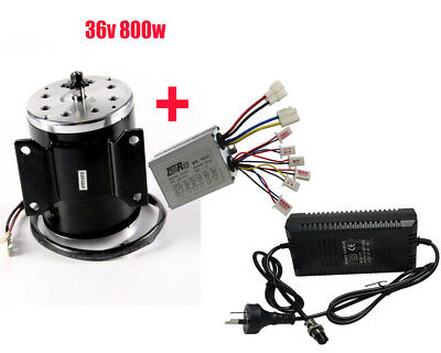 36V 800 W Brush Motor + Speed Controller + Charger Electric Scooters Bicycle NEW