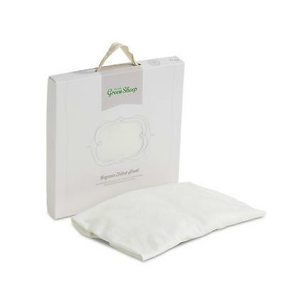 New The LIttle Green Sheep Organic Fitted Sheet Eco White 90 x 190cm