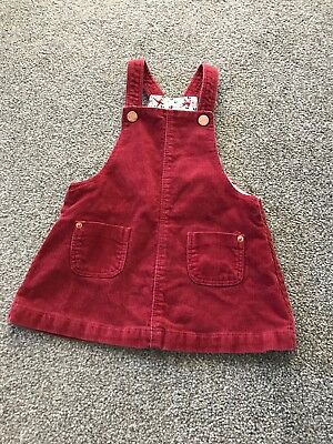 Baby Girl Zara Mini Corded Pinafore Dress Age 9-12 Months