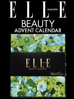 Limited Edition ELLE 2018 - BEAUTY ADVENT CALENDAR, In STOCK GLOBAL SHIPPING.