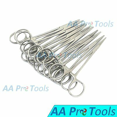 "10 Pcs 5"" Hemostat ( Mosquito Forceps ) Straight Stainless Steel"