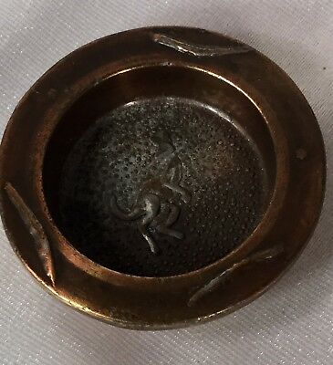 Antique Australian Bronze Kangaroo Dish,Small