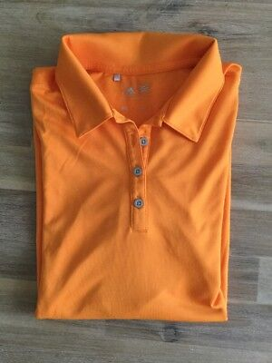 Adidas, Golf Damen Polo, Gr. S, Tolles Material, Orange