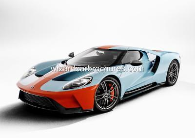 2019 Ford Gt Heritage Edition Set Of 4 Gulf Oil Gt40 A3 Poster Print Ad Garage
