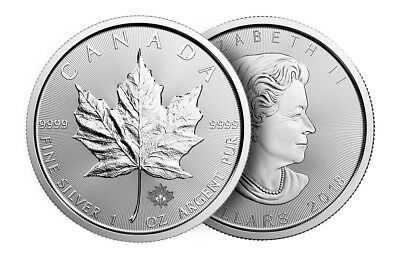 2018-Canadian-Maple-Leaf-1 oz-Troy-9999 fine silver coin bullion