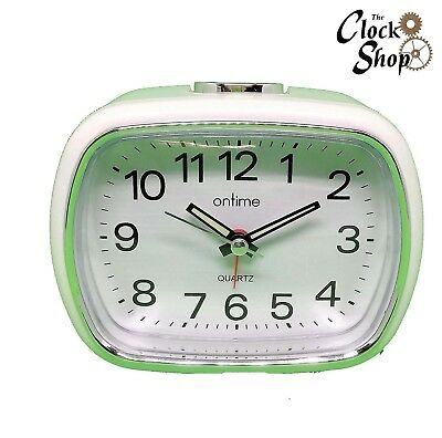 On Time Non Ticking Alarm Clocks Sweeping Second Hand With Snooze & LED Light