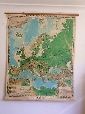 Vintage School Map Europe 1968 - Large