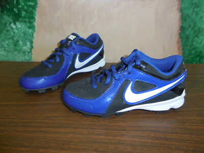 separation shoes f6980 8574f NIKE MVP Keystone Low LE 535597-014- BLACK BLUE Baseball Cleats SZ 13C