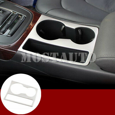 For Audi A4 S4 Interior Console Water Cup Holder Decorative Cover Trim 2008-2015