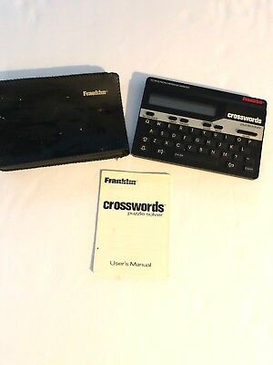 Franklin Crosswords Puzzle Solver CW50 w/Case & Users Manual