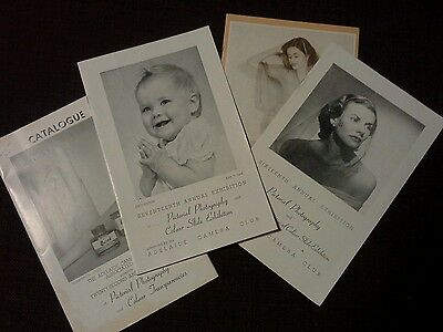 Vintage 1950s Adelaide Camera Club Photographic Exhibition Booklets