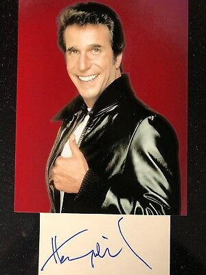 Genuine Hand Signed Henry Winkler Autograph With Portrait Photo