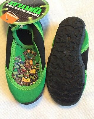 121bc7e25d3e Nickelodeon Teenage Mutant Ninja Turtles Boy s Green Water Shoes Size ...