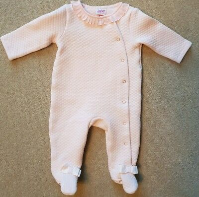 Ted Baker Baby Girl Pink Quilted All In One Age 0-3 mths