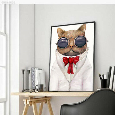 22BB Colorful Cartoon Sunglasses Cat Home Decorated Frameless Oil Paintings 14.8