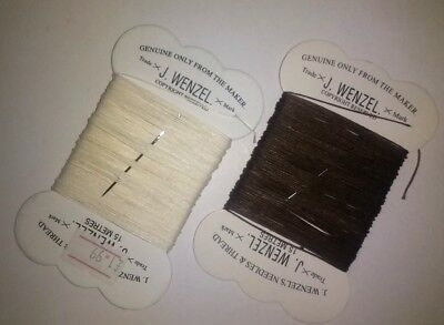 Wenzels Plaiting Thread + Needle 15m - White - 1 or 2