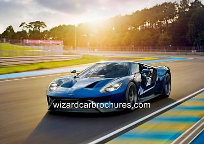 2017 Ford Gt Gt40 Set Of 2 A3 Poster Print Ad Shed Garage