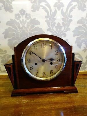 Art Deco 'SMITHS ENFIELD' Mantel Clock with Chimes Working Order