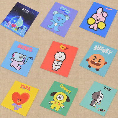 Kpop BT21 Portable Glasses Cleaner Cloth Eyeglasses  Clean Accessories Toy Gift