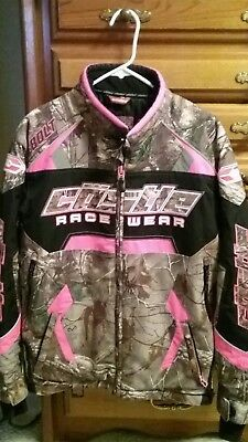 Womens/ Ladies Castle X Snowmobile Jacket RealTree Xtra Hot Pink SZ, M