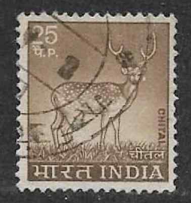 India Used Qe11 Era Stamp - 1974 Definitive Issue - Country Motifs - Chital