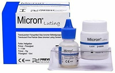 Micron1 Luting Permanent Dental Glass Ionomer Cement Crown Bridge Adhesive.FreeS